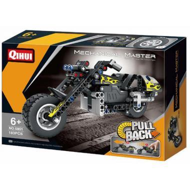 Конструктор QiHui Technics Мотоцикл инерция, 183 детали - QH5801