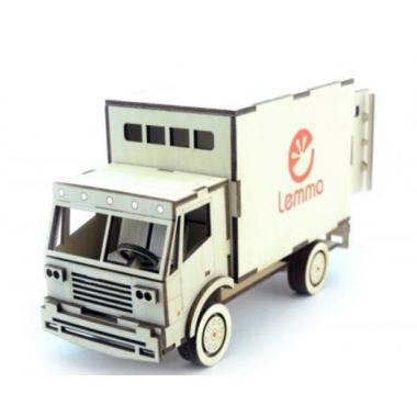 Конструктор 3D деревянный подвижный Lemmo Грузовик Фургон
