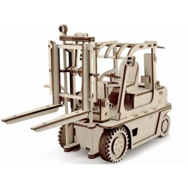 Конструктор 3D деревянный подвижный Lemmo Погрузчик