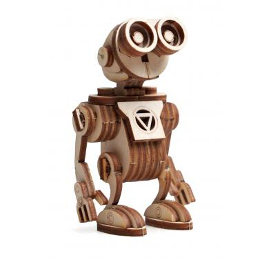 Конструктор 3D деревянный подвижный Lemmo Робот Санни