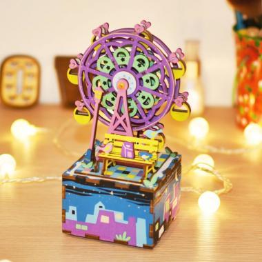 """Деревянный 3D конструктор - музыкальная шкатулка Robotime """"Колесо обозрения"""""""