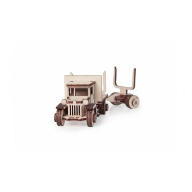 Конструктор 3D деревянный подвижный Lemmo Грузовик ЗИС 5В с роспуском