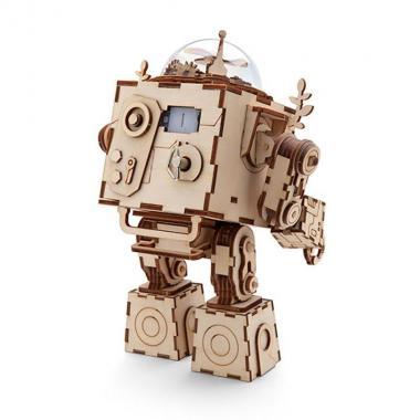 """Деревянный 3D конструктор - музыкальная шкатулка Robotime """"Робот Орфей"""""""