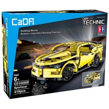 Конструктор Cada Technics, спорткар, 419 деталей, пульт управления - C51008W