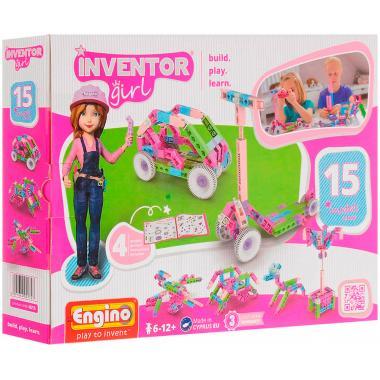 Конструктор Engino INVENTOR GIRLS. Набор из 15 моделей