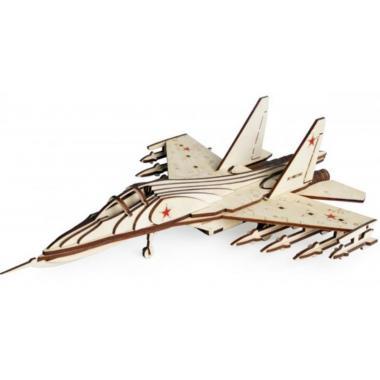 Конструктор 3D деревянный Lemmo Российский Истребитель СУ-30