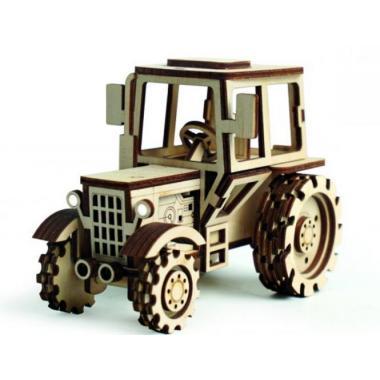 Конструктор 3D деревянный подвижный Lemmo Трактор