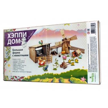 """Конструктор деревянный ХэппиДом """"Большая ферма с животными"""""""