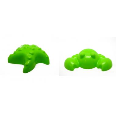 Набор формочек Zephyr Звездочка и крабик (зеленые)