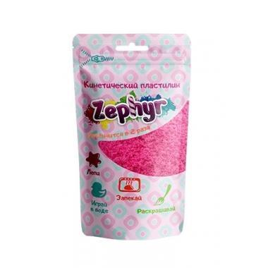 """Кинетический пластилин """"Zephyr"""" (Зефир) цвет розовый 75 гр (дой-пак)"""