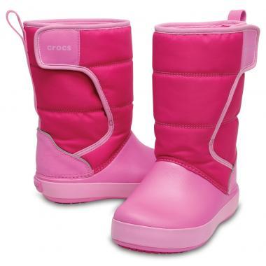 Зимние сапоги детские CROCS (розовый)