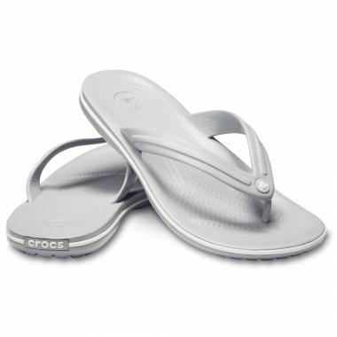 Сланцы CROCS Crocband Flip (серый/белый)