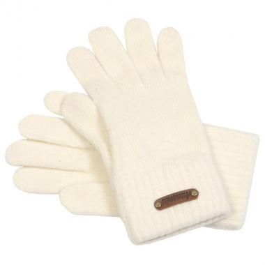 Шерстяные перчатки ACCESSORIES для девочки-подростка (молоко), 12- 16 лет