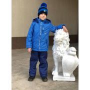 Демисезонный комплект LAPLAND для мальчика ОДНОТОН (синий), 5-8 лет