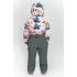 Демисезонный комбинезон Boom! by Orby для девочки (розовый/графит), 1,5 года - 8 лет