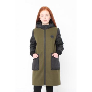Демисезонное пальто RIONA для девочки Джоди (хаки), 10-15 лет