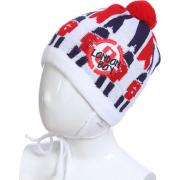 Весенняя шапка ACHTI для мальчика LONDON BOY (белый/красный), 2-3 лет