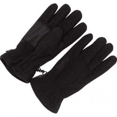 Зимние флисовые перчатки для мальчика (черный), 10-15 лет
