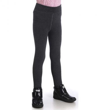 Зимние леггинсы на меху для девочки DOVER (темно-серый), 5-12 лет