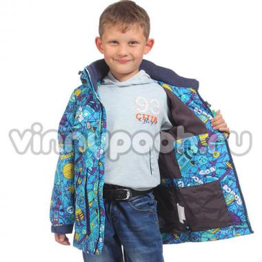 Ветровка KIKO на флисе для мальчика (бирюза), 1-4 года