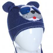 Весенняя шапка AMBRA для мальчика (синий), 1-2 года