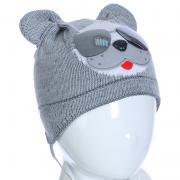 Весенняя шапка AMBRA для мальчика (серый), 1-2 года