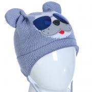 Весенняя шапка AMBRA для мальчика (голубой), 1-2 года