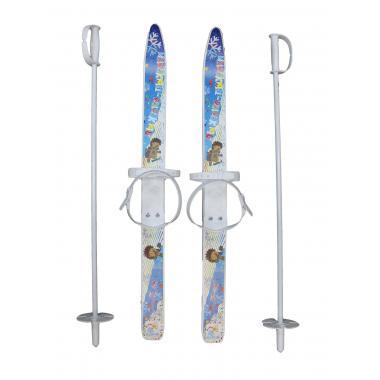 Лыжи детские «Лыжики-Пыжики» 75/75 см с палками