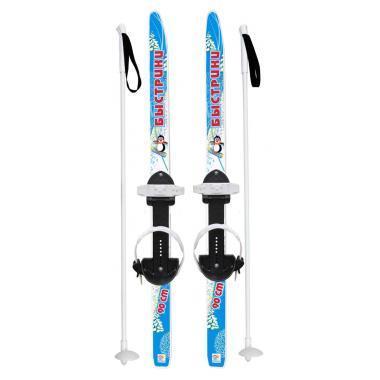 Детские лыжи Быстрики 90/90 см, в комплекте с палками