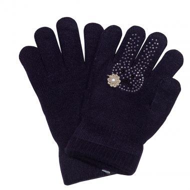 Зимние перчатки КОРОНА для девочки Зайка (черника), 4-8 лет