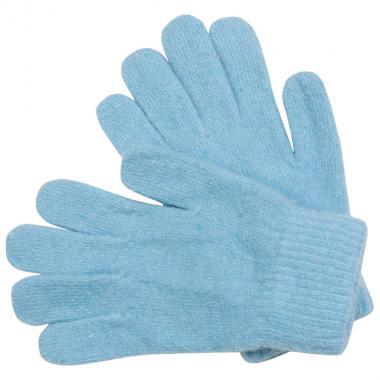 Шерстяные перчатки для девочки (голубой), 8-12 лет
