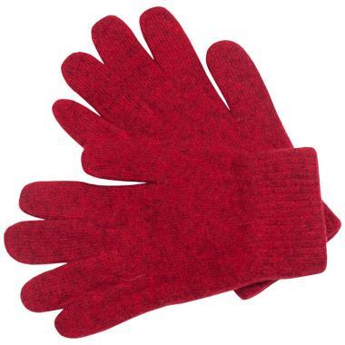 Шерстяные перчатки для девочки (красный), 8-12 лет
