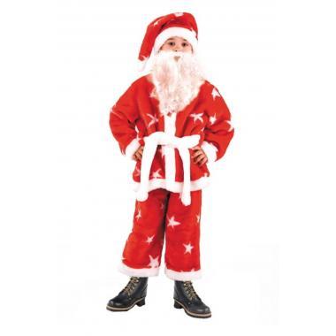 """Детский карнавальный костюм БАТИК """"Санта Клаус"""" (красный)"""