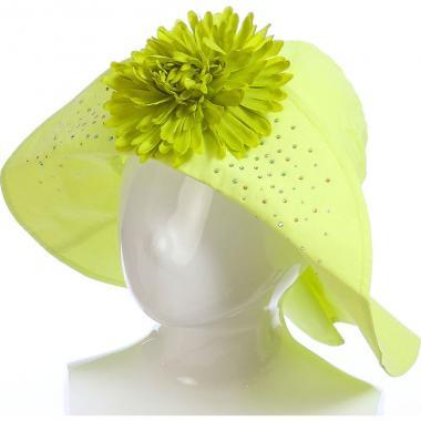 Летняя шляпа TuTu для девочки с цветком (зеленая), 8-12 лет