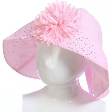 Летняя шляпа TuTu для девочки с цветком (розовая), 8-12 лет