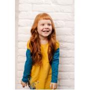 Джемпер для девочки KOGANKIDS (горчичный), 1 года - 10 лет