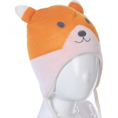 Шапка на флисе Lassie для девочки ЛИСЕНОК (оранжевая), 1-6 лет