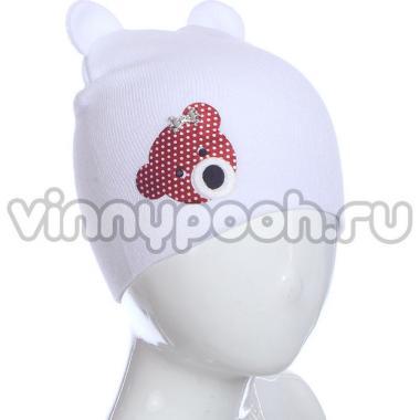 Осенняя шапка ANPA для девочки Мышка (белый), 2-5 лет