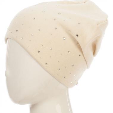 Зимняя шапка BARBARAS для девочки КРИСТАЛИНА (бежевая), 10-15 лет