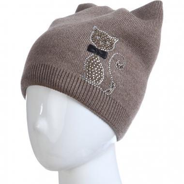 Весенняя шапка для девочки БЕТСИ (сафари), 5-10 лет