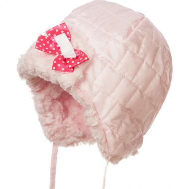 Зимняя шапка JAMIKS для девочки DOROTI (розовая), 1-2 года