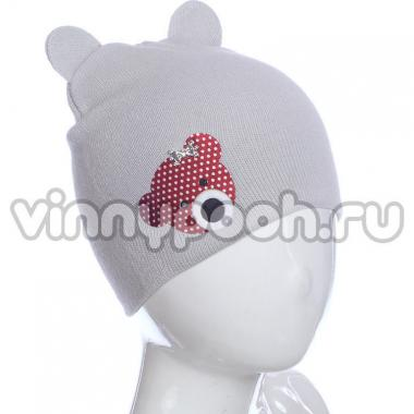 Осенняя шапка ANPA для девочки Мышка (серый), 2-5 лет