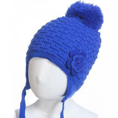 Зимняя шапка на изософте BARBARAS для девочки (индиго), 4-8 лет
