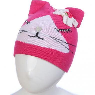 Весенняя шапка ANPA для девочки СИМА (малиновая), 1-2 года