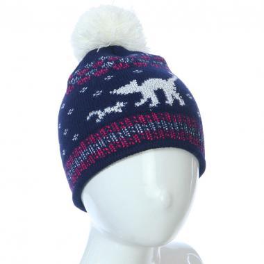 Осенняя шапка Kolad для девочки КОТЯТА (синяя), 3-5 лет
