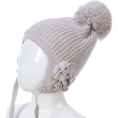 Зимняя шапка BARBARAS на изософте АЛЕНКА (серая), 4-6 лет