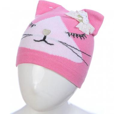 Весенняя шапка ANPA для девочки СИМА (розовая), 1-2 года