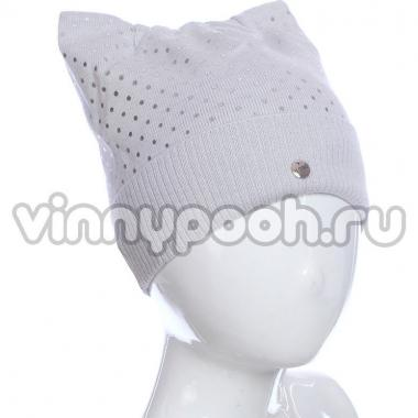 Весенняя шапка AGBO для девочки FIBI (серый), 4-9 лет