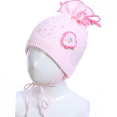 Весенняя шапка ACHTI для девочки КОНФЕТКА (бледно-розовая), 2-5 лет