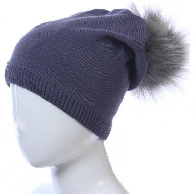 Зимняя шапка AGBO для девочки STASIA (графит), 9-16 лет